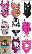 * NWT NEW GIRLS 1PC  or 2pc HELLO KITTY SWIMSUIT 2T 3T 4 5 6
