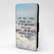 Saying Quote Flip Case Cover For Samsung Galaxy - A1236