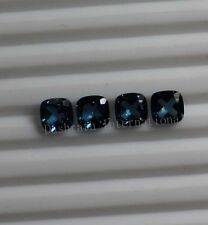4mm to 8mm Natural London Blue Topaz Cushion Cut Top Quality Blue Color Gemstone