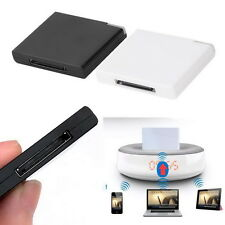 30 Pin Dock Speaker Bluetooth Music Audio Receiver Adapter For iPod iPhone PC #A