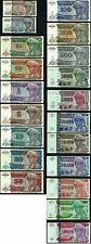 ZAIRE1993/96 Complete Set 1,5,10,20,50,100,200,500,1000...up to1.000.000 NZ UNC*
