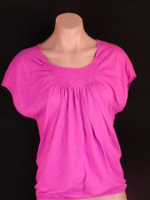 Ann Taylor Loft Cotton Smocked Front tee top XS S  NWT
