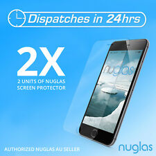 2x GENUINE Original NUGLAS Tempered Glass Screen Protector for apple iphone 7