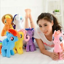 """New Cute 7"""" My Little Pony Horse Figures Stuffed Plush Soft Teddy Doll Toy Gift"""