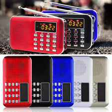 Mini Portable LCD Digital FM Radio Speaker USB Micro TF Card Mp3 Music Player #A