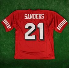 1994 Deion Sanders San Francisco 49ers Mitchell & Ness Red Authentic Jersey Mens