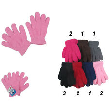 12pairs Boy's Girl FUZZY COZY WARM WINTER GLOVES MITTENS KNITTED KIDs 7~12 years