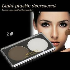 RIHAO Highlight Double Powder Palette Highlighter Bronzer Face Powder for LadyOS