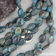 """Oval Blue Crazy Lace Agate Gemstone Beads for Jewelry Making Loose Beads 15"""""""