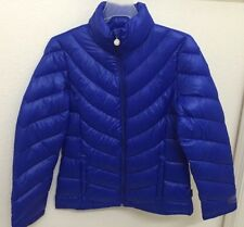 New With Tags Calvin Klein Womens Packable Lightweight Down Jacket Blue Size S M