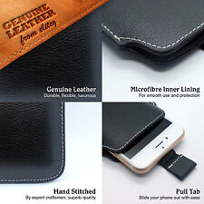 Luxury Genuine Leather Mobile Phone Case Cover Sleeve Pouch, iPhone iPod 100% UK