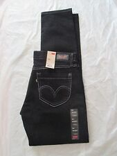 Levi's Jean 524 Skinny Leg Stretch Denim Too Superlow Ultra Low Black 114990007