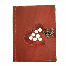 White Rose Large Handmade Leather Journal Diary Sketch Notebook