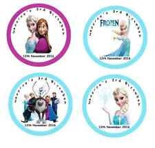 Personalised  FROZEN Self Adhesive Glossy Labels/Stickers