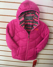 THE NORTH FACE GIRLS REVERSIBLE DOWN MOONDOGGY JACKET- CHB3- A PINK- S, M , XL
