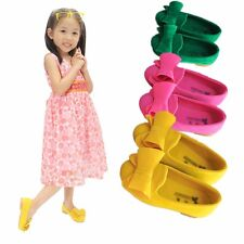 Kids Girls Princess Shoes Bow Candy Color Soft Flat Anti-slip Sandals US5.5-12.5