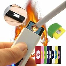 No Gas USB Electronic Rechargeable Battery Flameless Cigarette Lighter QT