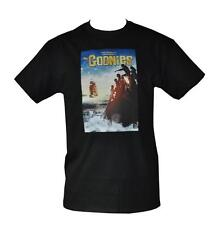 T SHIRT THE GOONIES PIRATE SHIP MOVIE POSTER MENS BLACK SIZES S TO 3XL FREE POST