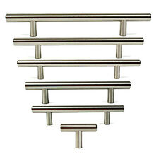 "2"" 5"" 7"" STAINLESS STEEL T-BAR Handle THICKER Diameter Cabinet Pull Hardware"