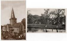 2 Early CRICKHOWELL Village and Church Brecon T J Allen Photo   Postcards
