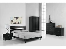 Novello Black or White Bedroom Furniture - Chests and Bedsides