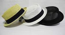 New cool Straw summer Pork Pie hat cap Crushable trilby fedora stingy short brim