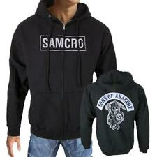 Sons Of Anarchy SAMCRO SOA Reaper Patch Officially Licensed Zipper Hoodie