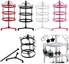 72 Hole Retro Metal Earring Necklace Jewelry Display Stand Holder Show Organizer