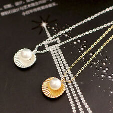 Shell Bead Clavicle Necklace Metal Chain Fashion Jewelry Pendant Necklaces GTAU