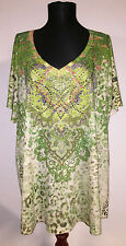 NWT One World Live and Let Live Shirt Top Tunic Size 2X Embellished Gorgeous NEW