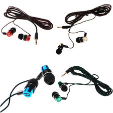 Earphone MP3/Mp4 New Stereo Roping Ear Headphone Subwoofer Earbud Metal 3.5mm