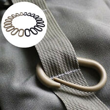 10 Pcs Locking U-Ring Carabiner Buckle Keychain Ring For Webbing Backpack SP