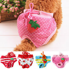 FEMALE PET DOG PUPPY DIAPER PANTS PHYSIOLOGICAL SANITARY NAPPY UNDERWEAR HOT