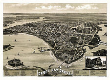 Map Onset Bay Grove Massachusetts Plymouth County 18x24 24x36 36x54 Poster NEW