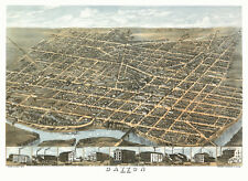 Antique Map of Dayton Ohio 1870 Montgomery County 18x24 24x36 36x54 Poster