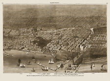 Map of Chicago Illinois 1874 Cook County 18x24 24x36 36x54 Poster