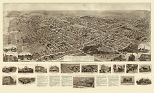 Old Map of Freeport New York 1909 Nassau County 18x24 24x36 36x54 Poster NEW