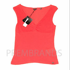 NEW WOMEN'S TED BAKER V NECK RED TOP SLEEVELESS BLOUSE T-SHIRT UK10 12 RRP £40