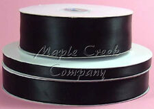 Double Face BLACK 100% Polyester Satin Ribbon Assorted Sizes