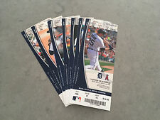 2010 Detroit Tigers Full Tickets YOU PICK ONE GAME Justin Verlander Wins Cabrera