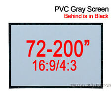 Home Theater Soft Gray Black PVC Front Projection Screen Curtains Projector Beam
