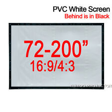 Indoor/Outdoor Home Theater Projector Projection Screen Curtain Soft White-Black