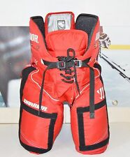 WARRIOR HUSTLER PANTS (with VELCRO Device), Red, New, Pro Ice Hockey Pant