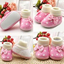 1 Pair Girl Toddler Baby Infant Shoes Warm Soft Sole Boots Charm Newborn Cute