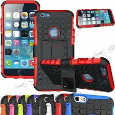 Shock Proof Hybrid Dual Layer Grip Hard Kick Stand Case For iPhone 7,6,6S,5S,SE