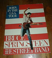 "BRUCE SPRINGSTEEN Orig 1984 ""Born In The USA Tour"" Concert Program VG+/NM"