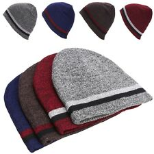 Winter Unisex Warmed Casual Knitting Beanie Hat Two-sided Reversible Sports Cap