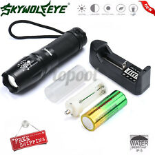 Super Bright 5000LM X800 CREE XML T6 LED Tactical Flashlight Torch+26650+Charger