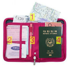 Credit ID Card Travel Passport Case Organizer Wallet Purse Bag Document Holder