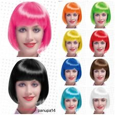 WOMENS LADIES SHORT BOB WIG FANCY DRESS COSPLAY WIGS POP PARTY COSTUME
